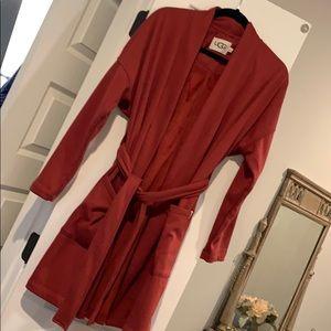 Red Ugg robe